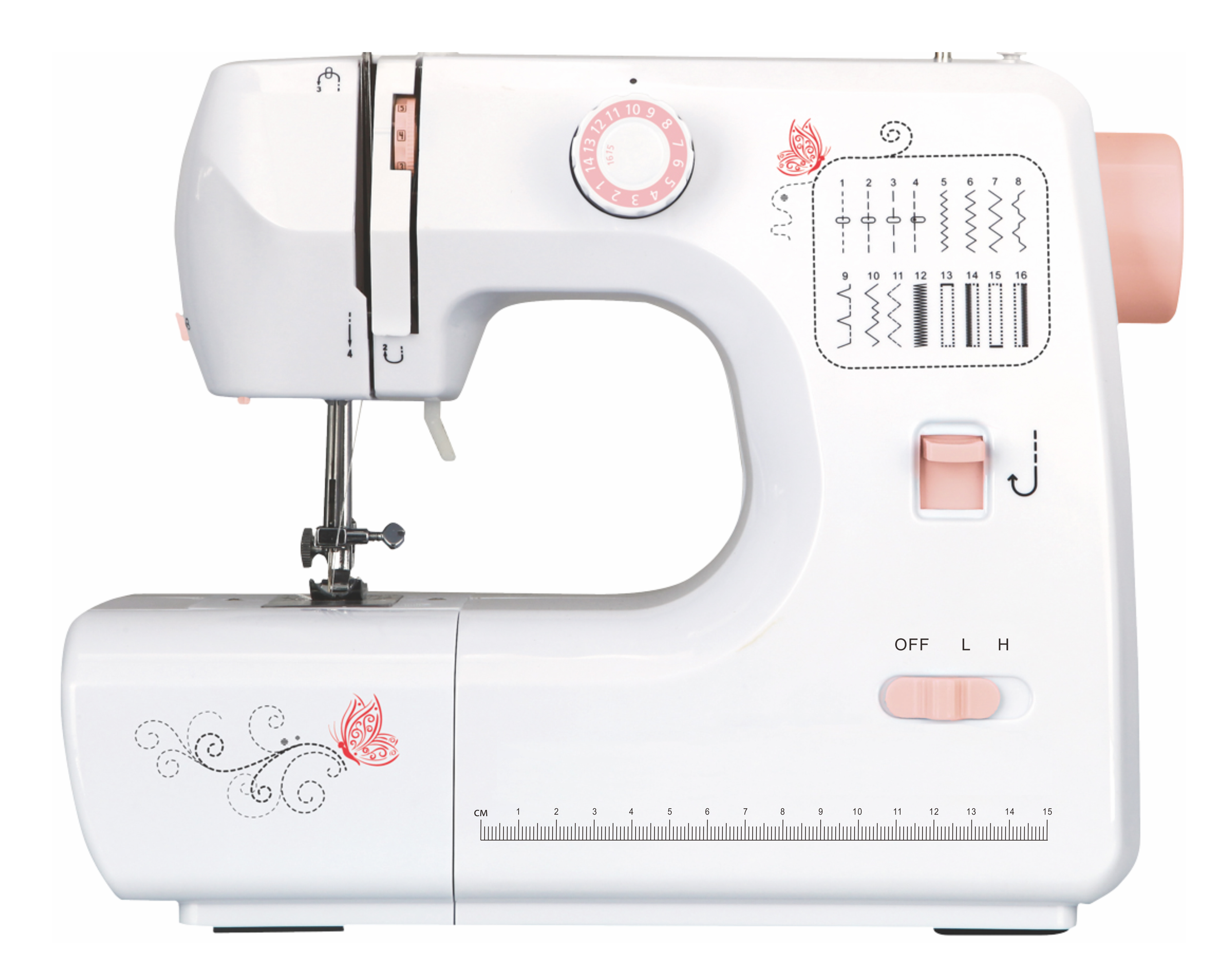 deluse haldheld sewing machine  pink 700-B3
